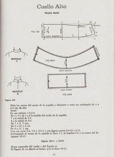 Dress Patterns, Sewing Patterns, Sewing Collars, Collar Pattern, Pattern Drafting, Sewing Techniques, Pattern Making, Diy Fashion, Dress Making