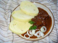 Guláš SPECIÁL Czech Recipes, Ethnic Recipes, Goulash, Stew, Camembert Cheese, Pudding, Treats, Cooking, Desserts
