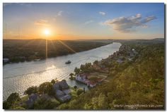 Taking in the sunset on Mount Bonnell just outside of Austin, Texas, is a great way to spend an evening..