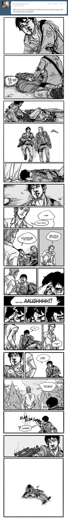 Supernatural fanart. Endverse AU Mark of Cain. OMG the end, but OMG this comic! It's amazing art