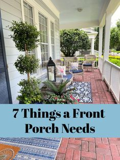 Summer Front Porches, Front Porch Steps, Summer Porch Decor, Small Front Porches, Decks And Porches, Southern Front Porches, Porch Ideas Summer, Porch And Patio, Front Porch Lights