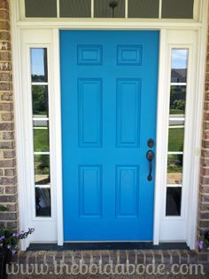 I LOVE color... and nothing says fun like a bright blue front door..