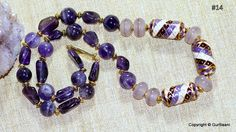 Gorgeous Lampwork with Amethyst necklace by SaiishEnergyCrystals