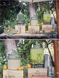lemonade drink station http://www.pinterest.com/pin/240661173811603449/