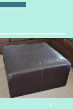 Take an old ottoman and give it new life with a simple removable slip cover! #reuholster #ottoman #slipcover #sew Ottoman Slipcover, Slipcovers, Diy Furniture Projects, Sewing Projects, Teen Bedroom, Bedroom Ideas, Decorating On A Budget, Diy Tutorial, Diy Home Decor