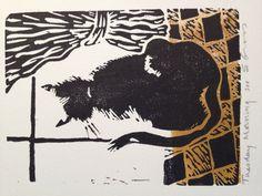 Linoprint & chine colle