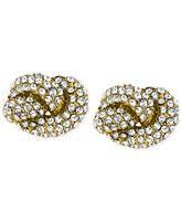 Michael Kors Clear Knot Stud Earrings