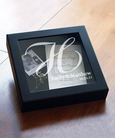 Look at this Black Wedding Wishes Personalized Shadow Box on #zulily today!