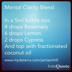 """Perfect blend for those moments of """"brain fog"""" get your oils at www.mydoterra.com/jamiemhill"""