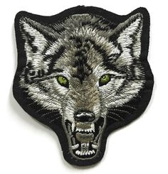 Wolf Patch - Embroidered patches - Iron on Patches - Backpack Patches *** To view further for this item, visit the image link.