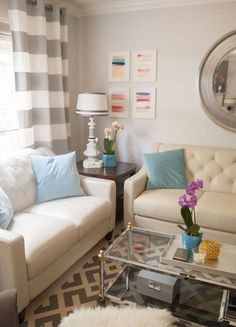 Color Confidence: 10 Easy-to-Live-With Living Room Paint Colors- seashell gray by valspar