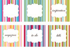 Organizing Labels - lots of free printables here :: www.imagezoospark.com