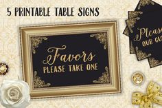 Check out Wedding Reception Table Card Signs by Studio29 on Creative Market