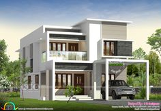 1146 square feet flat roof house architecture design by Rit designers, Kannur, Kerala. 2 Storey House Design, Duplex House Design, Simple House Design, House Front Design, House Design Photos, Modern House Design, Indian Home Design, Kerala House Design, Style At Home