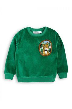 Mini Rodini FOX VELOUR SWEATSHIRT Green