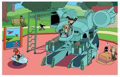 Metal Gear Playground by *YaleStewart http://yalestewart.deviantart.com/art/Metal-Gear-Playground-360274406?q=gallery%3Ayalestewart%2F25954329=4