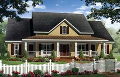 Country Farmhouse Traditional Elevation of Plan 59214