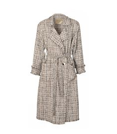 Tweed trench coat material: cotton colour: black & white sizes: free size care: hand wash