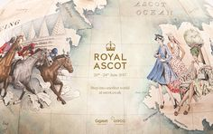 Ascot Racecourse unveils illustrated globe telling the story of Royal Ascot for its 2017 campaign by Antidote