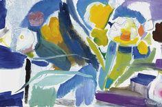 Ivon Hitchens (UK Spring Flower Group oil on canvas Anime Comics, Abstract Flowers, Abstract Art, Action Painting, Painting Art, Mail Art, Spring Flowers, Flower Art, Modern Art
