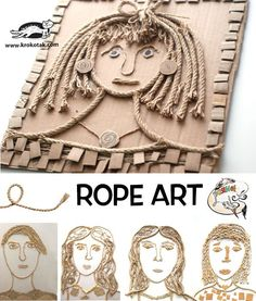 Watch video: how to make: These Rope Collages have been made by children from ROYANA ART STUDIO, Sofia(Bulgaria). see more: