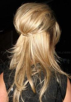 Prom Frisuren 2019 - Half Up, Half Down Hairstyles Ideas to Feel Next-Level Gorgeous Daily Hairstyles, Trendy Hairstyles, Straight Hairstyles, Wedding Hairstyles, Weekend Hairstyles, Fashion Hairstyles, Vintage Hairstyles, Homecoming Hairstyles, Gorgeous Hairstyles