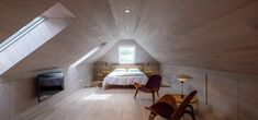 Scandi Style Isle Of Bute, Timber Flooring, White Flooring, Bothy, Wall Cladding, Scandi Style, Ceiling Fan, Deck, Stairs