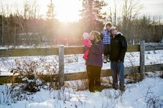 Jack & Lacy's Beautiful Winter Family Session – Fischcreek Family Photographer | Paisley Photography - sun kissed winter family photos - snowy family photos - winter family photos