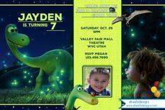 The Good Dinosaur Birthday Invitation - Dinosaur Birthday Invitation