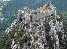 Le château de Puilaurens, France