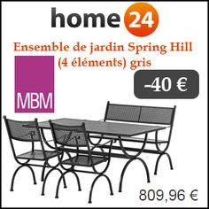 #missbonreduction; 40€ de réduction sur l'Ensemble de jardin Spring Hill (4 éléments) gris chez Home24.http://www.miss-bon-reduction.fr//details-bon-reduction-Home24-i854755-c1831521.html