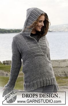 Free knitting pattern Campfire hoodie hooded pullover sweater and more hoods and hoodie patterns at http://intheloopknitting.com/hoods-and-hoodies-knitting-patterns/