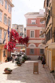 Corfu old town Corfu Greece, Athens Greece, Mykonos Greece, Santorini, Beautiful Islands, Beautiful Places, Beautiful Scenery, Villas In Corfu, Places To Travel
