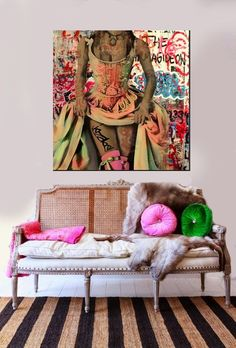 diane likes art : Photo Interior Inspiration, Design Inspiration, World Map Wall Art, Painting Collage, Paintings, Box Art, Decoration, Living Room Decor, Wall Decor
