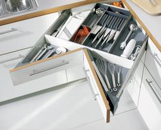 Drawer Systems from Hettich and Haefele that we use in our modular kitchens.