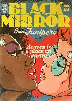 Black Mirror als EC-Comic-Cover