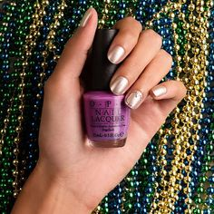 Get your nails in the #MardiGras mood! #TutorialTuesday: opi.is/nailart