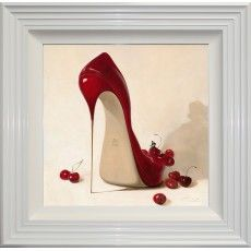Cherry Red Stilettos - for sitting on a shelf as artwork, not for walking in. Crazy Shoes, Me Too Shoes, Sexy Heels, Stiletto Heels, Red Stilettos, Red Shoes, Shoes Heels, High Shoes, Shoes Style
