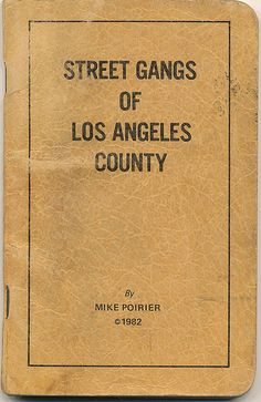 Street gangs of Los Angeles County. I don't know what year this is, but I love it. Very Dragnet.