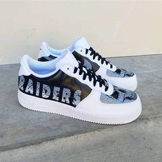 2856bbf57f5 Custom Raiders Nike Air Force 1 Low