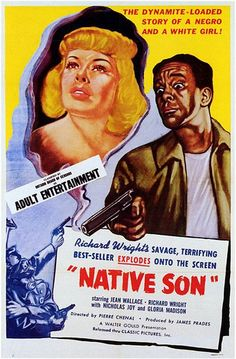 Native Son | 1951 Adaptation of the classic novel by Richard Wright. Set in Chicago, Native son tells the story of Bigger Thomas, a young black man who accidentally murders his employer's daughter while performing his duties as chauffeur. The combined forces of institutional racism and condescending white liberalism pursue Thomas to an unhappy end. The author plays the leading role in this film version.