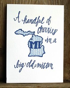 Michigan Letterpress Art Print