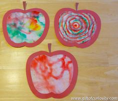 Brilliant Coffee Filter Chromatography Apples   Make beautiful art and learn about the science of color with these Brilliant Coffee Filter Chromatography Apples.