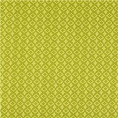 """APT4-8 Green Tonal Geometric Print Fabric is 44"""" - 45"""" wide and 100% cotton. Color your world with unique handmade accents using this gorgeous geometric-print fabric in shades of olive and pale green. With a bright, beautiful, unique pattern, this fabric will make beautiful pillow covers, drapes, curtains, and so much more!    CARE INSTRUCTIONS: Machine wash, warm; tumble dry, remove promptly. Do not bleach.    Available in 1-yard increments. Average bolt size is approximately ..."""