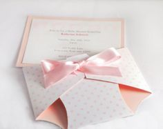 Diaper Baby Shower Invitation Announcement Baby Girl or Boy
