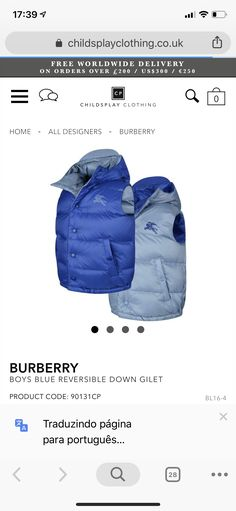 Kids Fashion Boy, Boy Blue, Burberry, Winter Jackets, Boys, Clothes, Design, Style, Winter Coats