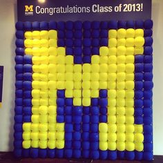 Display at the Alumni Center for students to take pictures with as they pick up their graduation tickets! #mgograd