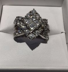 2.25 TCW Natural Round Cut Diamond (VS1/D) Cluster Ring In 14K White Gold. Get the lowest price on 2.25 TCW Natural Round Cut Diamond (VS1/D) Cluster Ring In 14K White Gold and other fabulous designer clothing and accessories! Shop Tradesy now