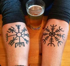 Vegvisir tattoo (not my Photo, please let me know If you are the owner or know him so I can give credits)