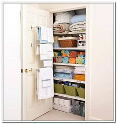 Bathroom Closet Shelving Ideas how to save closet space in your winter home | bathroom closet